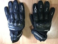 Alpinestars black leather gloves Torrance, 90501