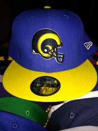 Los Angeles Rams New Era Fitted Cap 7 5/8 Dallas, 75287