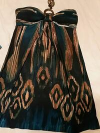 black and brown spaghetti strap dress Brampton, L6X 1E5