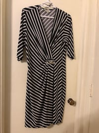 Signature black and white striped dress