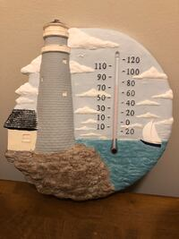 Hand Painted Lighthouse Thermometer Randallstown