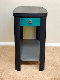 black and green wooden side table Longmont, 80504