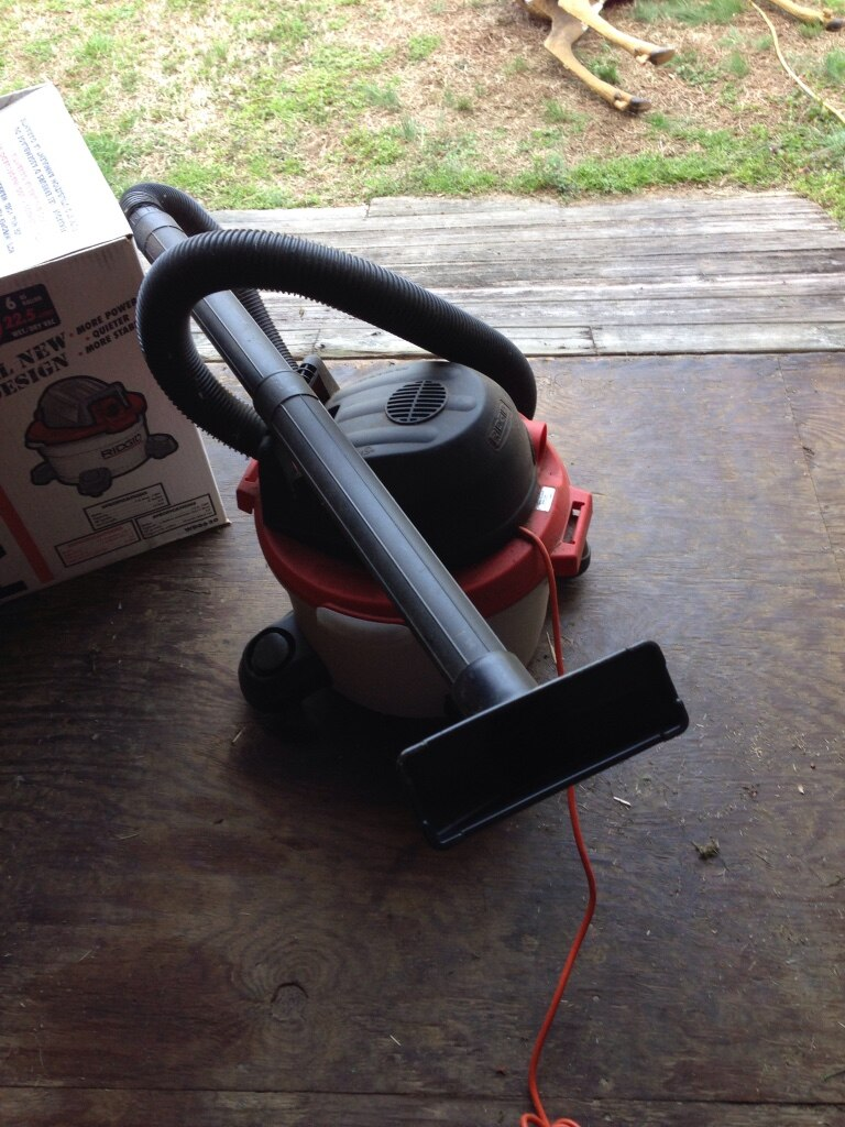 Photo New never used 2 hp Ridgid wet or dry vacuum cleaner .