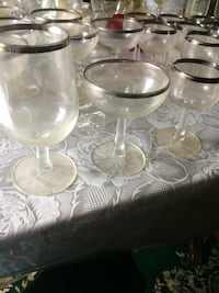 Antique silver boarder wine/champagne glasses Hyattsville, 20783
