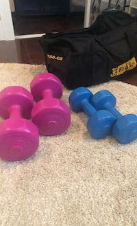 2 sets of dumbells and duffel bag Surrey, V3W