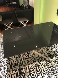 Silver And Black Table In Newport News Letgo