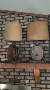 Set of Two Nautical Wooden Lamps Mobile, 36693