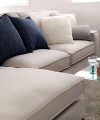 Fabric sectional couch - used 3743 km