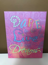 Dare to live your dreams wall decor Clarksville, 72830