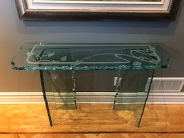 Console Table  - Beautifully handmade all glass