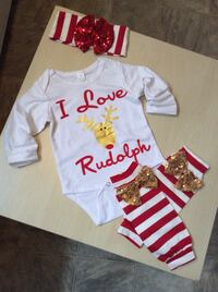 Baby girl Christmas outfit size 6,12,18,24 months  Los Angeles, 91406