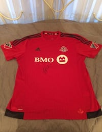 Authentic Tfc jersey signed by Michael Bradley Toronto