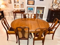 Solid wood walnut dining table 6 chairs set  Kensington, 20895
