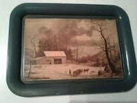 painted tray with snow scene Rocky Ridge, 21778