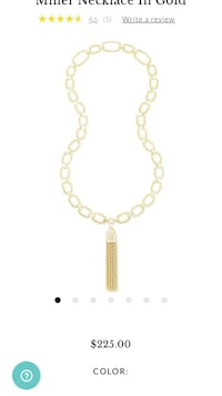 Kendra Scott gold Miller necklace with matching Mia bracelet San Diego, 92130