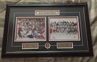 """2002 olympic hockey gold, framed print. 30""""w x 19""""h mint condition.. Both the men's and women's tournaments were won by Canada, defeating the host United States in both games 30""""w x 19""""h mint condition framed print featuring 2002 winter olympics hockey go Vaughan, L4H 2L1"""