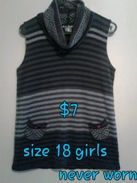 black and gray stripe tank top Calgary, T3B 0T3
