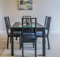 Extendable Table with 4 chairs VANCOUVER