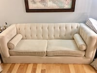 Alexis Chesterfield Sofa Couch with Track Arms (Almond) Gaithersburg, 20878