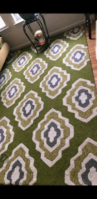 green and white chevron textile Montclair, 22025