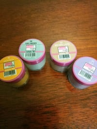 three assorted color plastic containers Indio, 92201