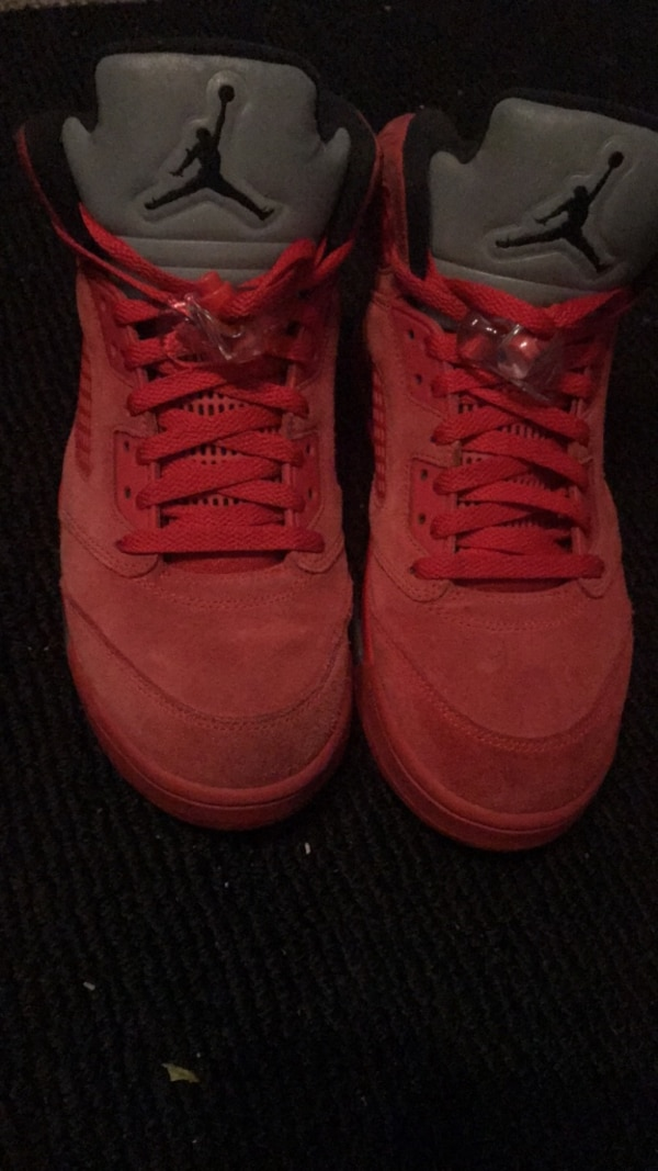 "2f9a7e1e5173 Used Air Jordan Retro 5 ""Red Suede"" sz 9 for sale in Daly City - letgo"