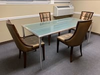 Glass Dining Table & Chair Set (Rexite $ International Design) Alexandria, 22304