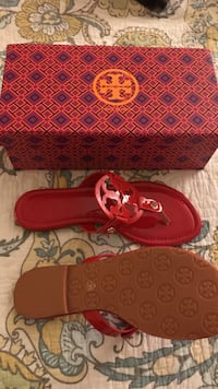pair of red leather boat shoes West Palm Beach, 33417