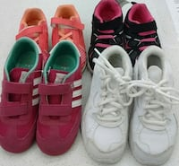 (73) Nike and Reebok shoes for girls, size 11 toddler, $ 10 each