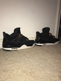 pair of black Air Jordan 4 shoes Leesburg, 20176