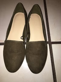Olive green forever 21 flats