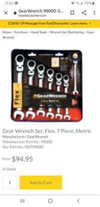 Brandnew gearwrench ratcheting Lexington