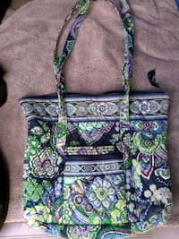 green and blue floral Vera Bradley tote bag Honolulu, 96819