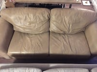 Leather beige couch Mississauga, L5H 3V2