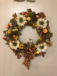 New! Hand crafted Fall Wreath  76 mi