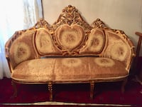 Brown and beige floral fabric sofa Toronto, M1J 3E8