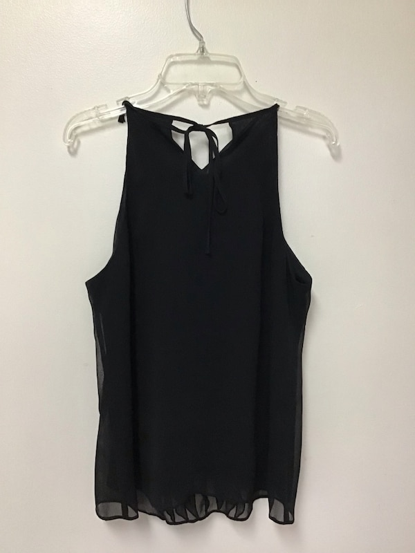 Womens ANN TAYLOR Black polyester fully lined sleeveless top… Size 2P 494897af-e1ea-4637-a51b-722f81b7c4e0