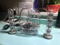 two clear glass candle holders 571 km