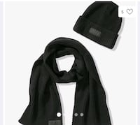 New Victoria secret Pink scarf and beanie