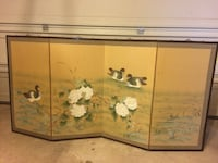 brown floral with duck print room divider Ashburn, 20147