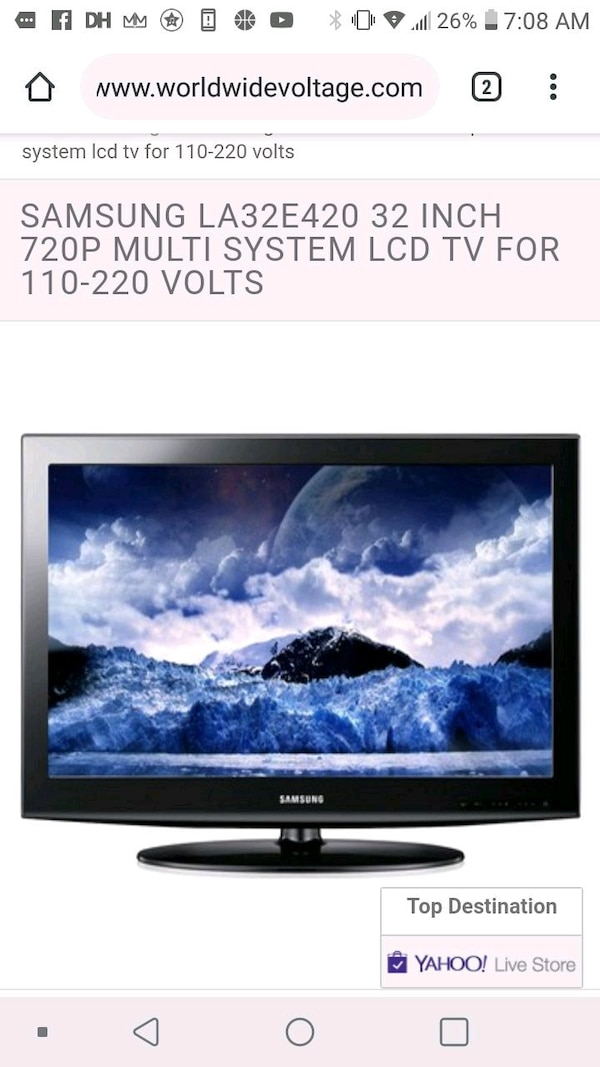 32 Inch Samsung TV With Remote