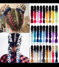 Colorful Braiding hair