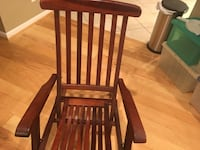 Titanic style deck chair. Hard wood. Brass fittings. Excellent condition   Alexandria, 22304