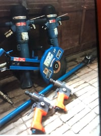 Blue and black power tool