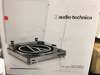 Black Audio-technica turntable box