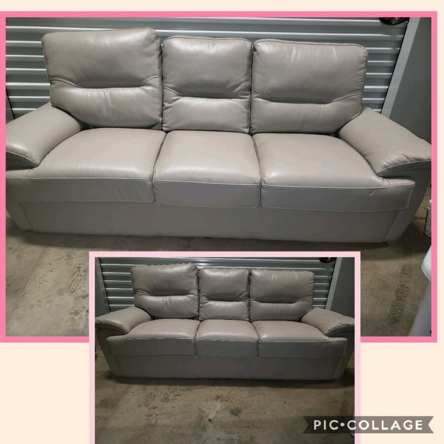 **TAKING OFFERS** TAN/Beige  Leather couch.