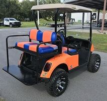 Road king Golf Cart @ W/New Rims And Seat Cover.