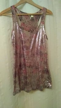 Eyeshadow pink and white sequined tanktop Lemont, 60439