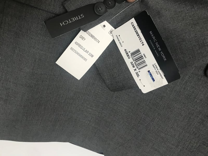 Grey and blue 40R two new suits with tags 15963245-c79e-4469-8379-2fcdadfaafcd