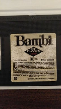 Bambi VHS black diamond edition (very rare)